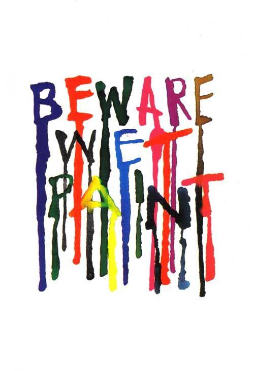 Beware Wet Paint Alan Fletcher