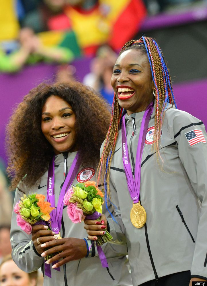 US Serena Williams (L) and Venus William