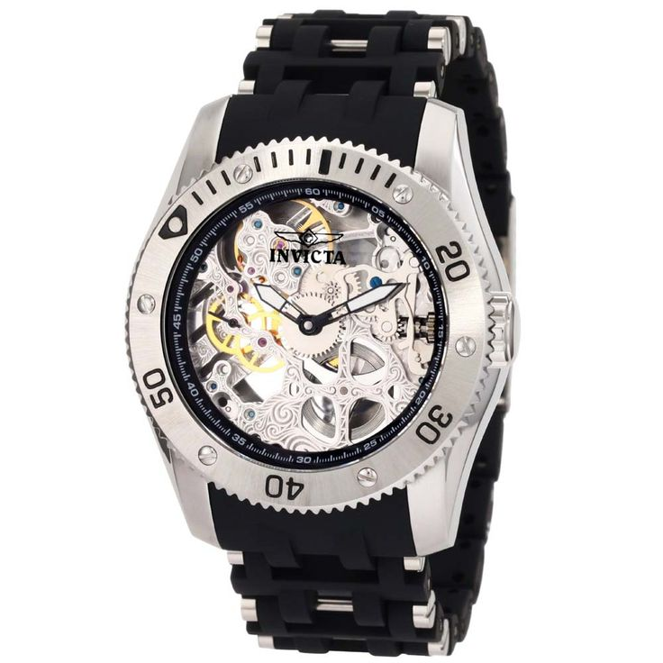 mens+invicta+watches | Invicta 1254 Men's Sea Spider Mechanical Skeleton Dial Stainless Steel ...