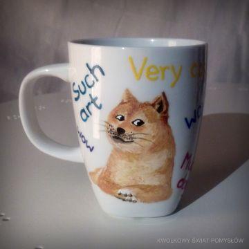 kubek, cup, pieseł, doggy, wow, meme