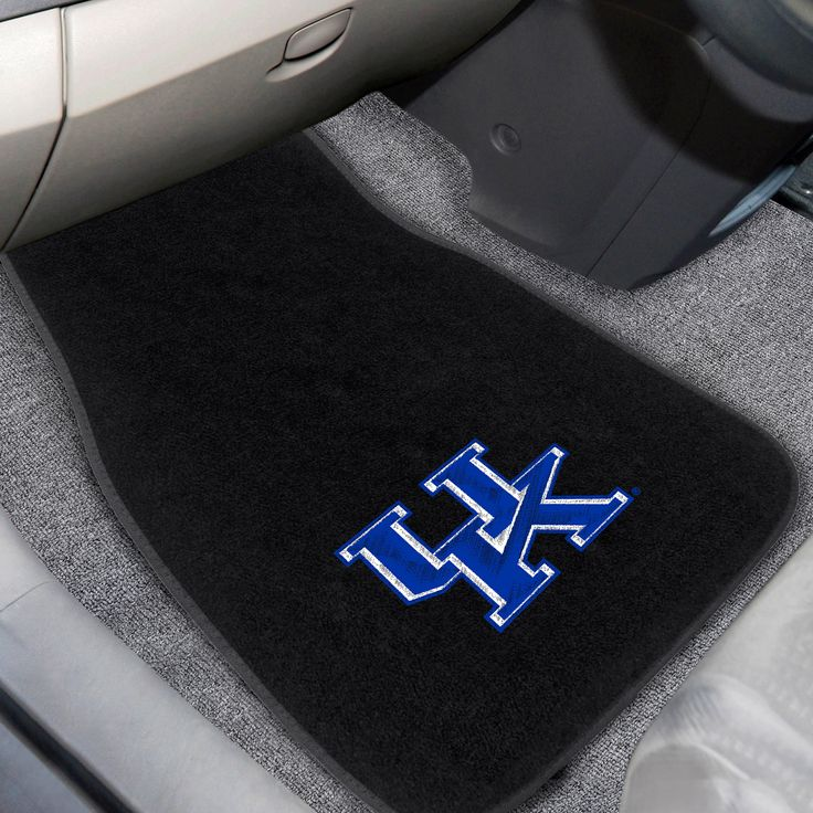 """University of Kentucky 2-piece Embroidered Car Mats 18x27 - Protect your vehicle's flooring while showing your team pride. Universal fit makes it ideal for cars, trucks, SUVs, and RVs. The officially licensed mat features embroidered team logos in true team colors. Heel pad on drivers side for added durability and safety. FANMATS Series: CAREMBRTeam Series: University of KentuckyProduct Dimensions: 17""""x25.5""""Shipping Dimensions: 26""""x17""""x0.5"""". Gifts > Licensed Gifts > Ncaa > All Colleges…"""