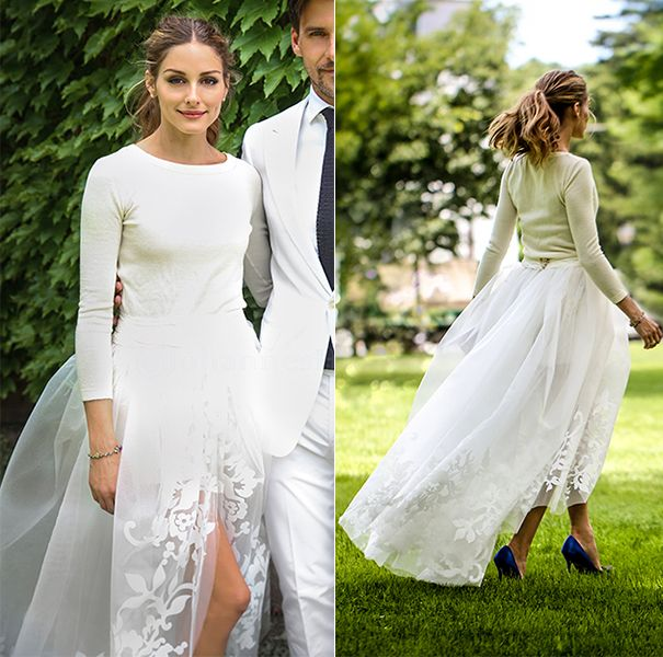 Wedding Dresses In The Style Of Olivia Palermo Celebrity Wedding