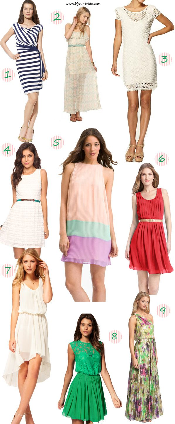 Some Fabulous Bridal Shower Outfits To Choose From!