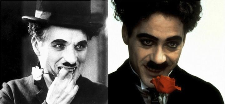 More Biopic Actors and Their Real-Life Counterparts - My Modern Metropolis  Charlie Chaplin (Robert Downey Jr. in Chaplin)