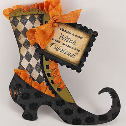 Witch Shoe Tutorial-Would a bad witch wear shoes this fabulous?