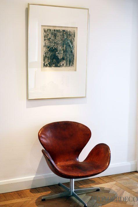 Swan easy chair by Arne Jacobsen from Fritz Hansen | Via wonderdeco.se