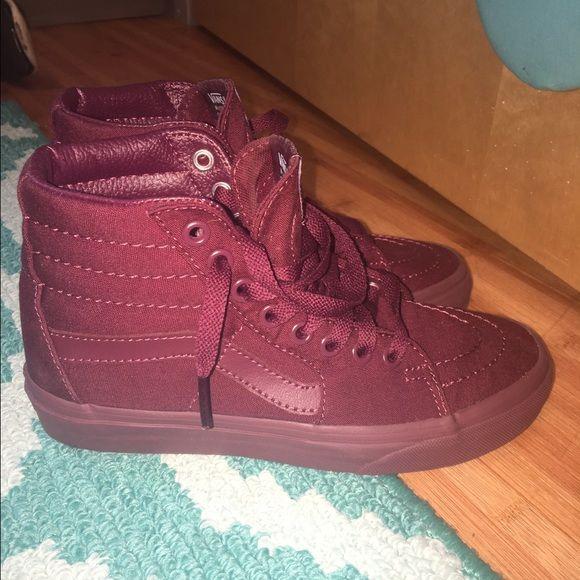 Vans Shoes - Maroon High Top Vans