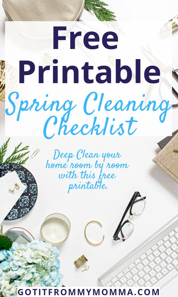 Spring Cleaning Complete Home Checklist