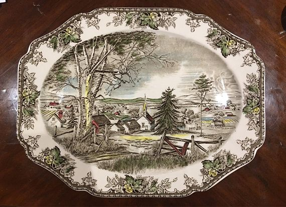 JOHNSON BROTHERS Merry Christmas Pattern Snack Plate /& Cup Set