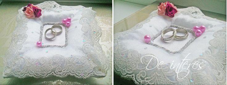 Подушечка для колец от De interes. Wedding Ring Pillow, wedding, marriage, nuptials Нежность