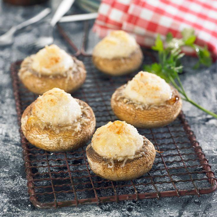 Découvrez la recette Champignons farcis à la brandade sur cuisineactuelle.fr.
