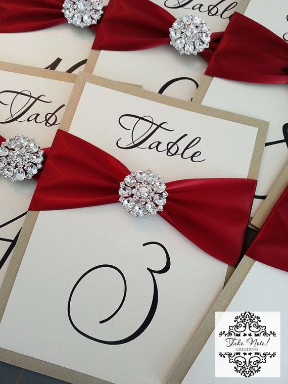 SAMPLE Wedding Table Number Cards by TakeNoteCreations on Etsy