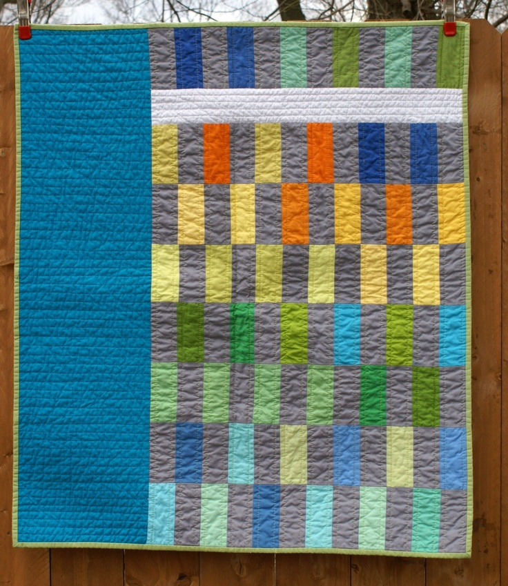 Love this quilt for one of the boys modern baby boy quilt for Boy quilt fabric