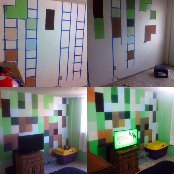 Proyecto minecraft para la recamara de mi hijo minecraft for Bedroom ideas 18 year old