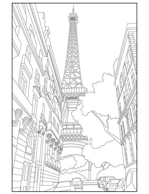 The Top 23 Ideas About Paris Coloring Book For Adults Coloring