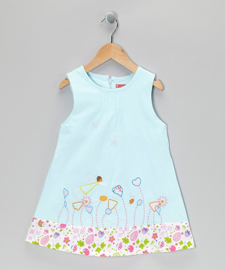 like?  Light Blue Button Flower Dress - Infant, Toddler & Girls | Daily deals for moms, babies and kids