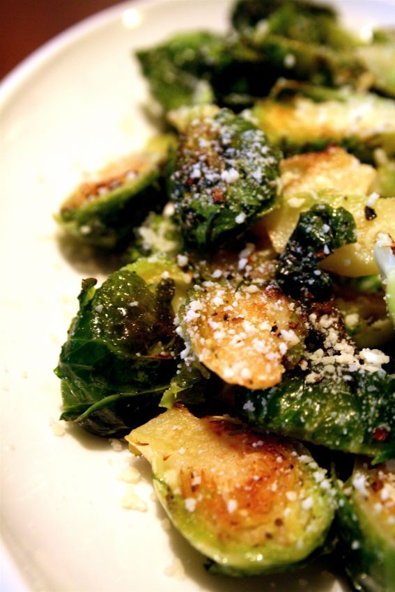 Roasted Brussel Sprouts- Yum! We add bacon to ours sometimes;)