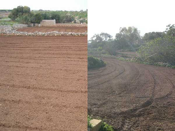 45 Most of the fields had been recently ploughed.