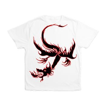 Black Spitfire Dragon Men's All Over Print T-Shirt