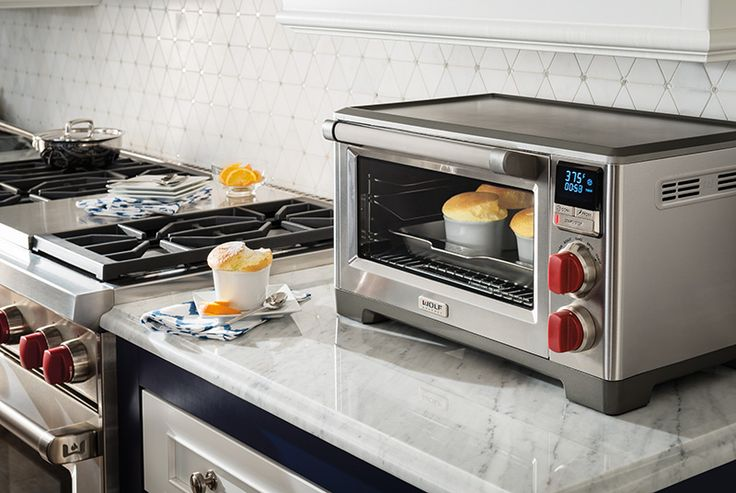 The #WolfGourmet COUNTERTOP OVEN with convection makes roasting mouthwatering tenderloin as easy as it is in a Wolf range. The integrated temperature probe gives you the precise control to roast meats to perfection without ever opening the oven door, and the unique perimeter convection mode ensures uniform heat throughout the oven. You will enjoy faster, more consistent, more predictably delicious results for your baking, roasting, and broiling. This oven will perform expertly for years to…