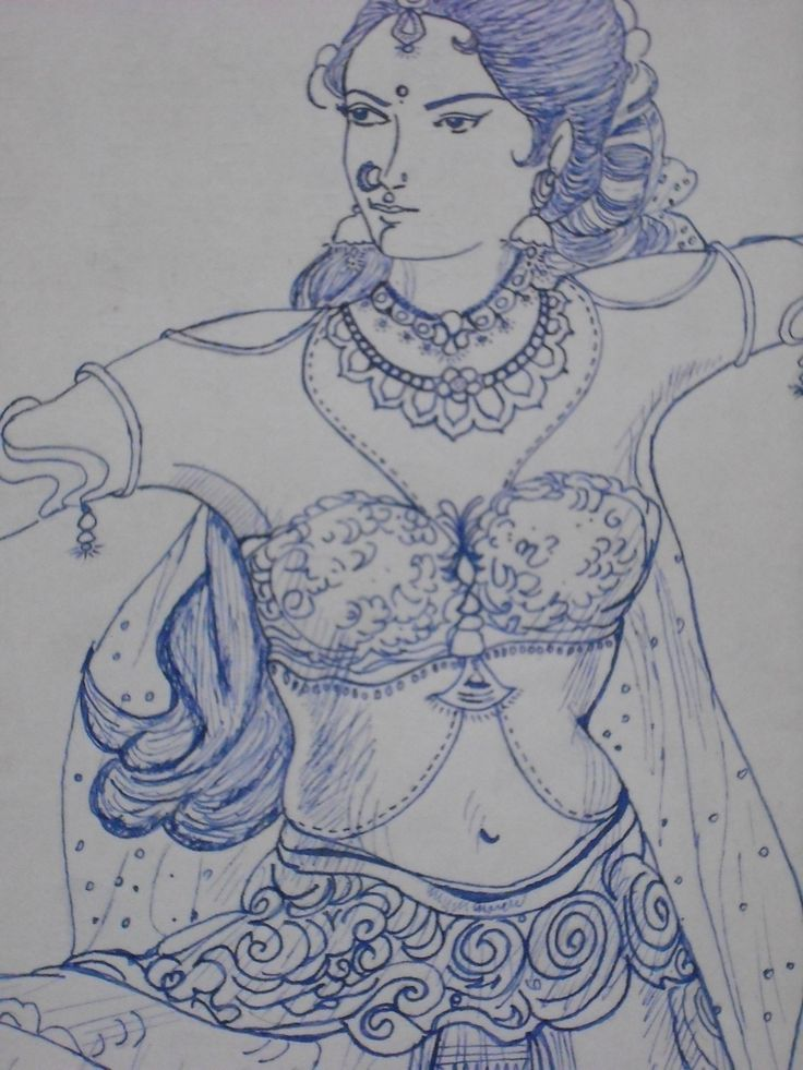 My Drawing With Ink Pen.  Copy Of My Favorite Artist Manian Selvam ( ம.செ. )