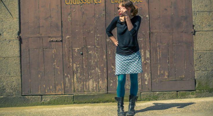 DIY mode : jupe-coupon simple à coudre