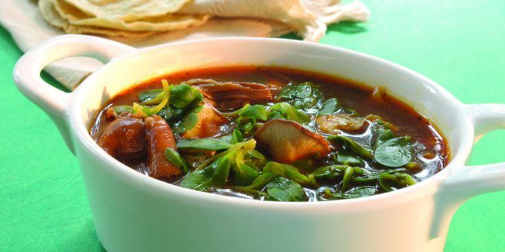 #RECETA Chileatole de hongos y verdolagas – Animal Gourmet