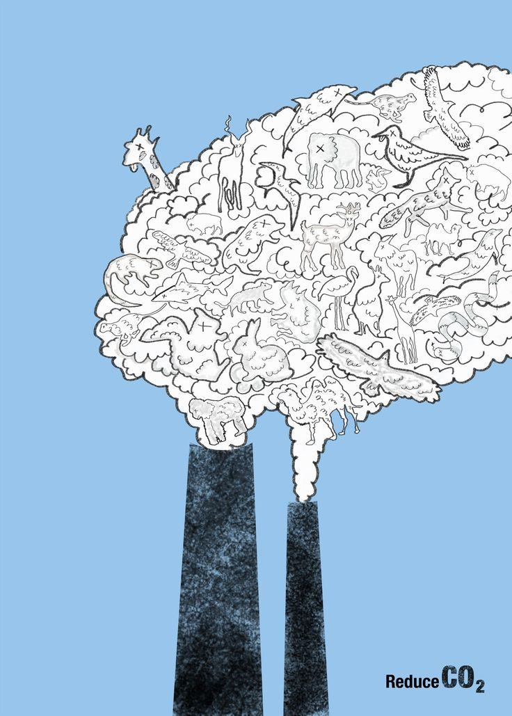 Climate change, 2012, viewed 20 October 2014, <http://missever.com/archives/22088.html> This poster is presenting the damage of industrial pollution that the smoke spread out from the chimney is created by lots of various animals, and the eyes and emotion of these animals is in a sick or die way. And some even want to get away from the smoke. The white smoke make these animals lose their original colours can be a symbol of death.