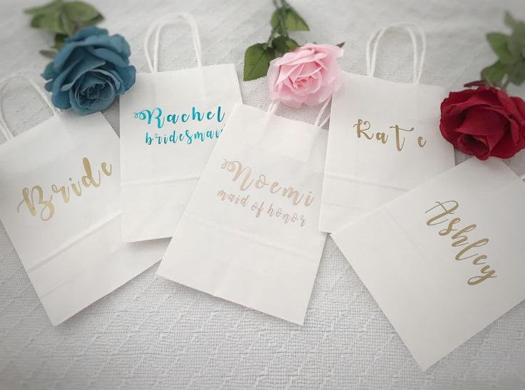Excited to share the latest addition to my #etsy shop: Bridesmaid gift bags/Bridesmaid Gifts/Personalized Gift bags/Wedding/Gift bags/Custom Gift bags/Gift ideas/Wedding gift ideas/Bridesmaids