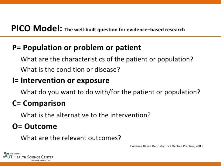 Nursing research question format PICOT - Google Search