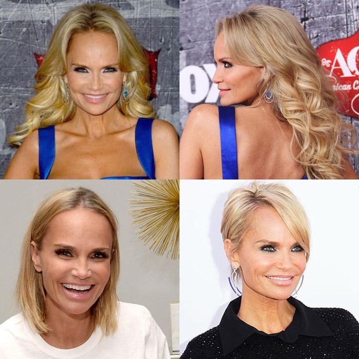 Kristin Chenoweth used to wear permanent hair extensions but recently embraced her naturally fine hair. She is one of many celebrities that decided to use hair extensions only when she has a big event and not in everyday life.  #hair #finehair #finehairupdo #finehairdontcare #haircut #hairstyles #kristinchenoweth #beatifull