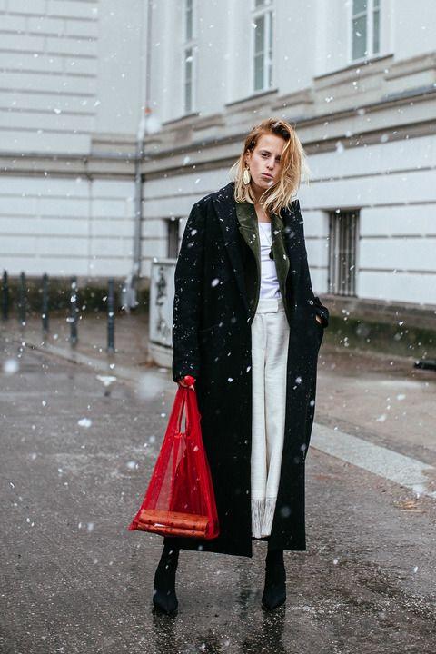 Langer oversize mantel