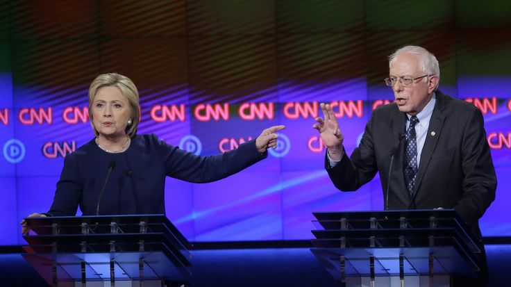 The seventh Democratic debate was marked by nuanced explanations from Clinton and declarative statements from Sanders.