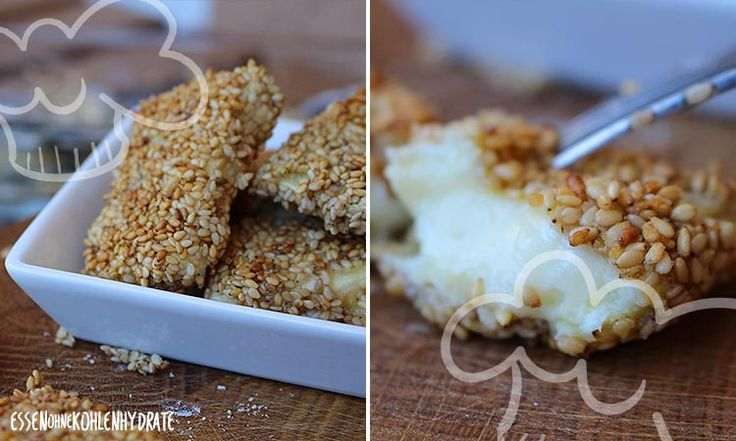 Cheese-Nuggets mit Sesamkruste