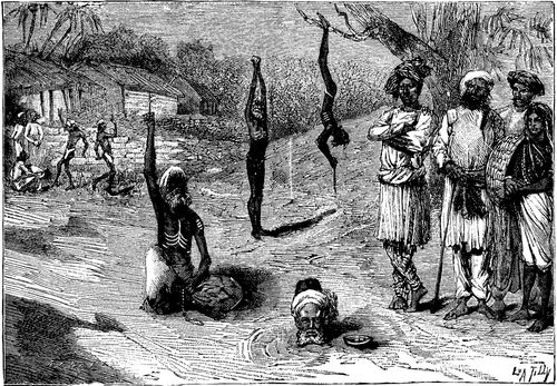 """""""indian Fakirs in Various Positions"""" (Scientific American, 1885)"""