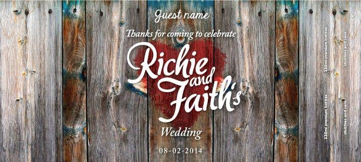 Wedding Gift Stubby Holders : Rustic Wedding Stubby Holder Wedding InspirationPlanning & Ideas ...