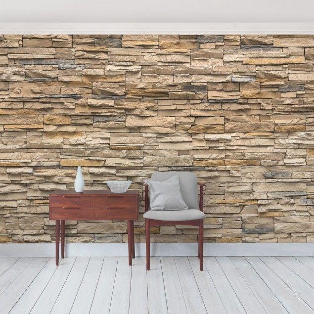 17 best ideas about tapete steinoptik on pinterest. Black Bedroom Furniture Sets. Home Design Ideas