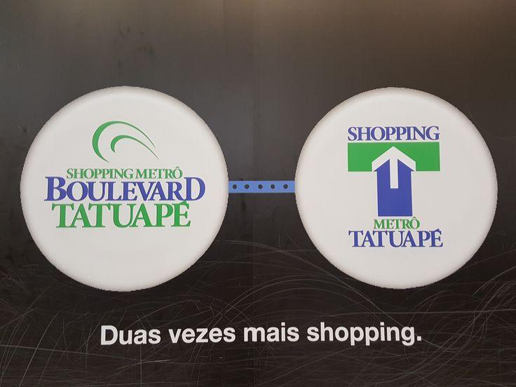 """3 January 2017 (14:11) / Shopping Metrô Boulevard Tatuapé and Shopping Metrô Tatuapé, Tatuapé, São Paulo City. """"Duas vezes mais Shopping."""""""