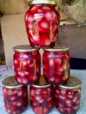 Чеснок в вишне маринованный! : Разное