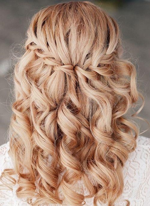 Wasserfall Zopf Hochzeit Frisuren Hair Pinterest Unique