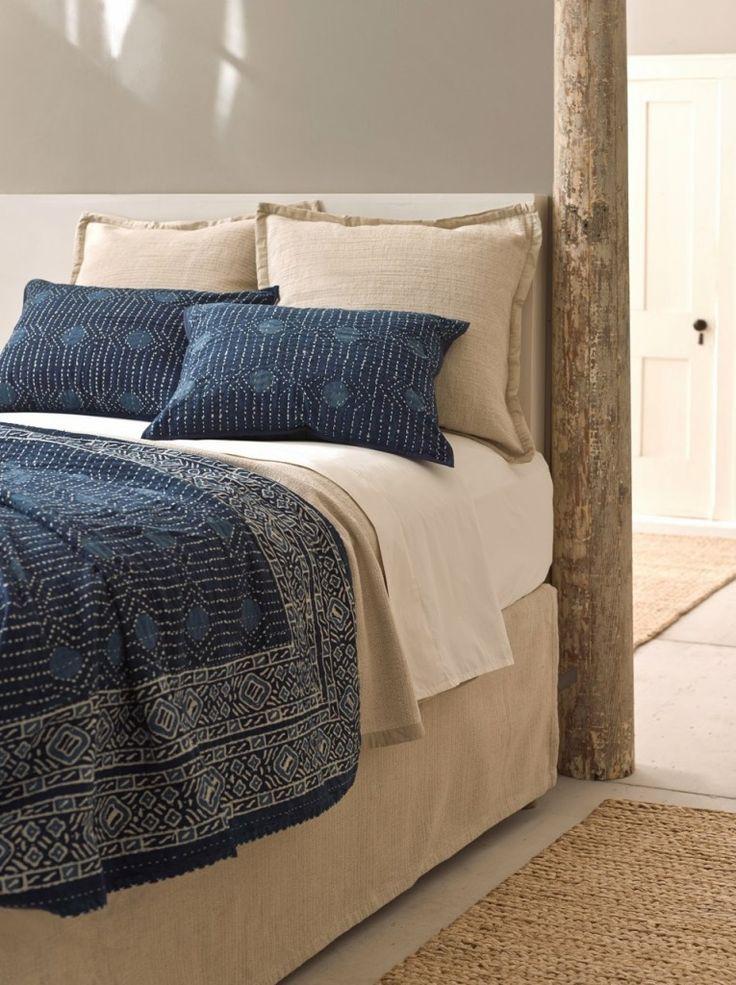 Pine Cone Hill bedding bedroom decor Resist Indigo