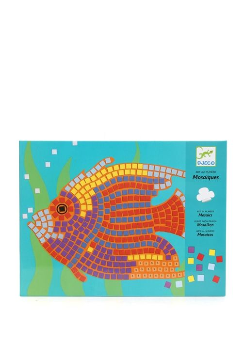 Balık figürlü sayılı mozaik sanatı Drejo oyuncak (7-13 yaş). 22x28 cm - Mozaik boyutu: 6,5 x 6,5 mm. 3 yaşından küçük çocuklar içinuygun değildir