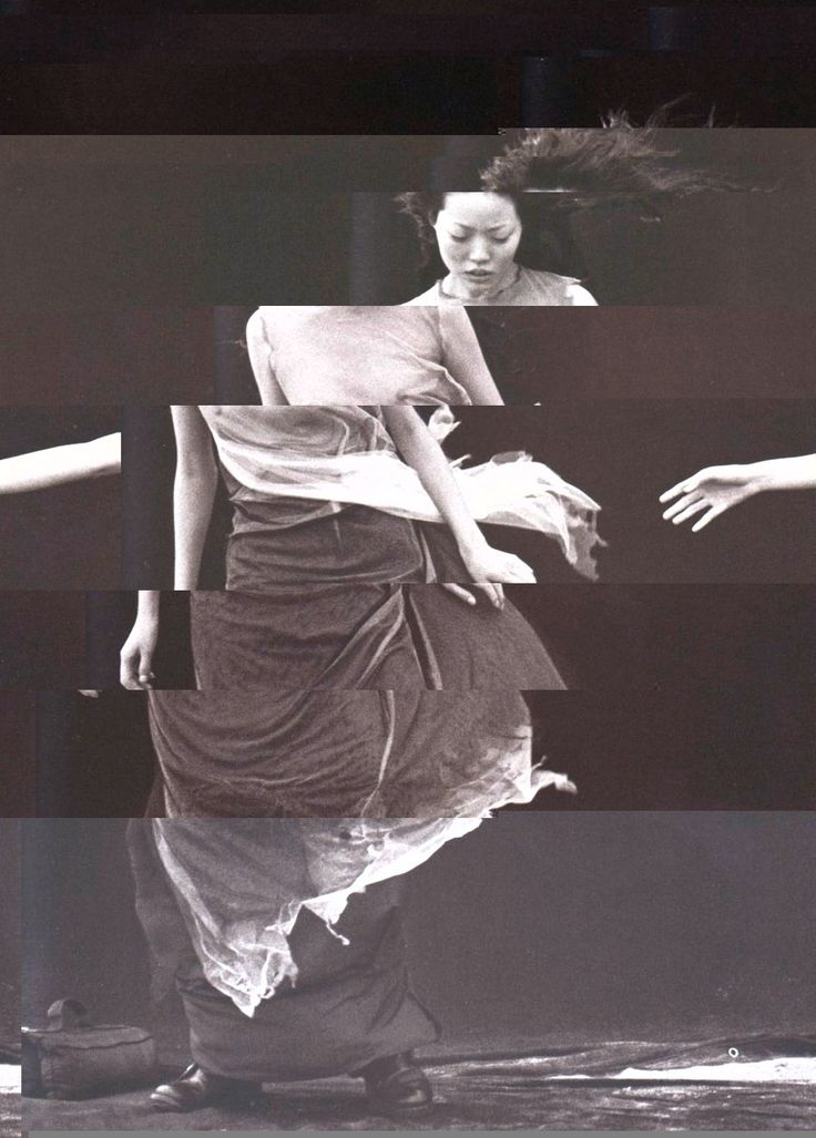 glitch of Vogue Italia May 1999 'A Windy Summer' by Peter Lindbergh