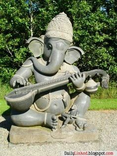 Ganesha, Garden Art, Backyard Ideas, Ganesh, Yard Art, Yard Crashers, Garden  Ideas