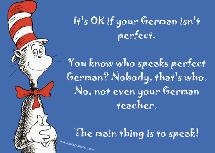 You don't speak perfect German? Really?