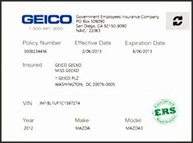 Print Free Fake Insurance Cards Djnyr Unique Fake Geico ...