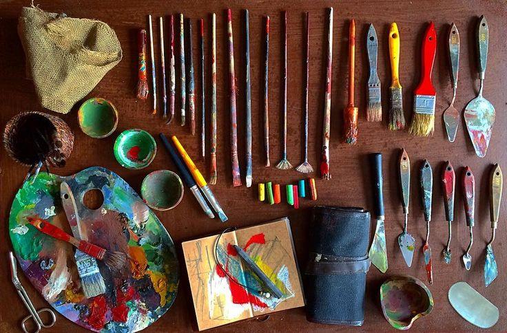"""Artwork time...""  #artstudio #studio #artwork #canvas #fineart #paintings #draw #drawing #oilpainting #oilpaint #paint #painting #exhibition #resim #ressam #sanat #serdarabay #serdar_abay #artstudio #studio"