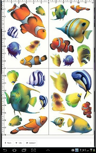Cool print of saltwater fish tattoo pinterest for Cool saltwater fish
