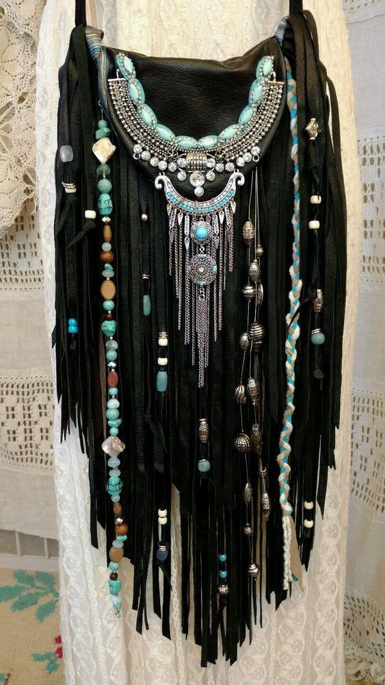 Design your own photo charms compatible with your pandora bracelets. Handmade Black Leather Fringe Cross Body Bag Hippie Boho Hobo Gypsy Purse tmyers #Handmade #MessengerCrossBody