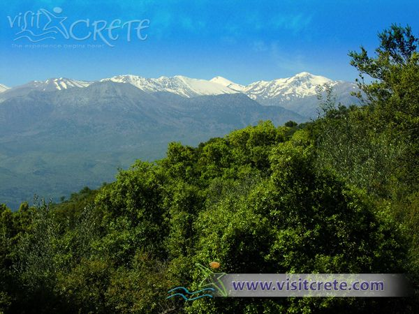 Crete, Chania, Lefka Ori Mountain (view from Vamos)